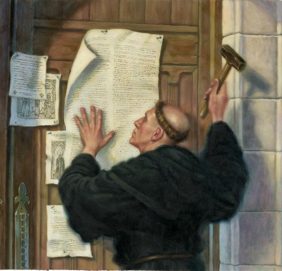 Luther nailing theses 560x538